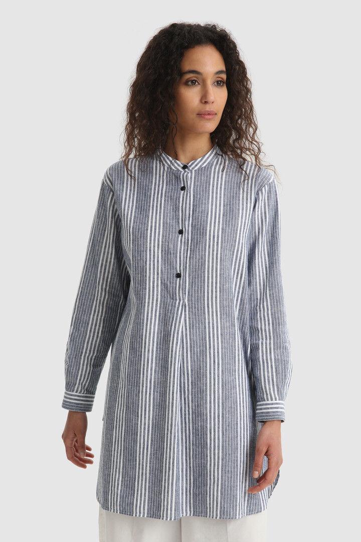 Camicia Lunga In Cotone Misto Lino - Woolrich
