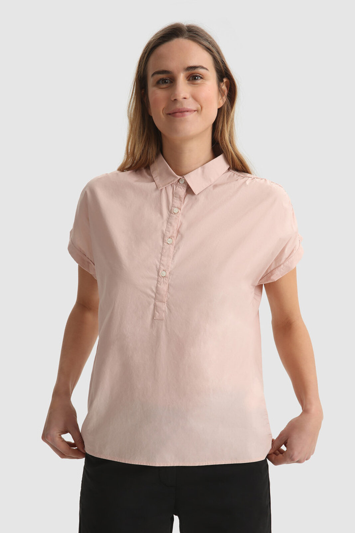 Blusa In Cotone A Manica Corta - Woolrich
