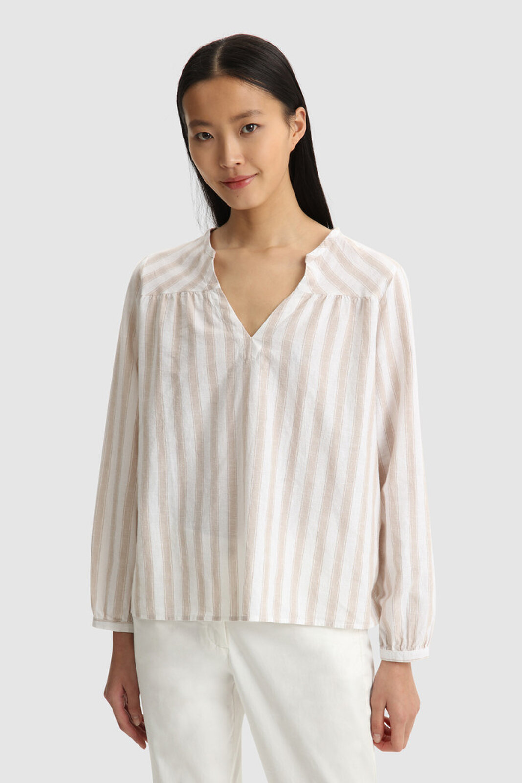 Blusa In Cotone Misto Lino - Woolrich