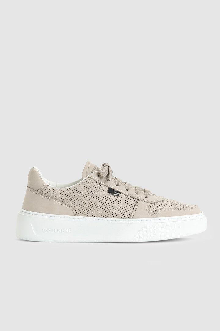 Sneaker Da Tennis Classic Traforata Effetto Nabuk - Woolrich
