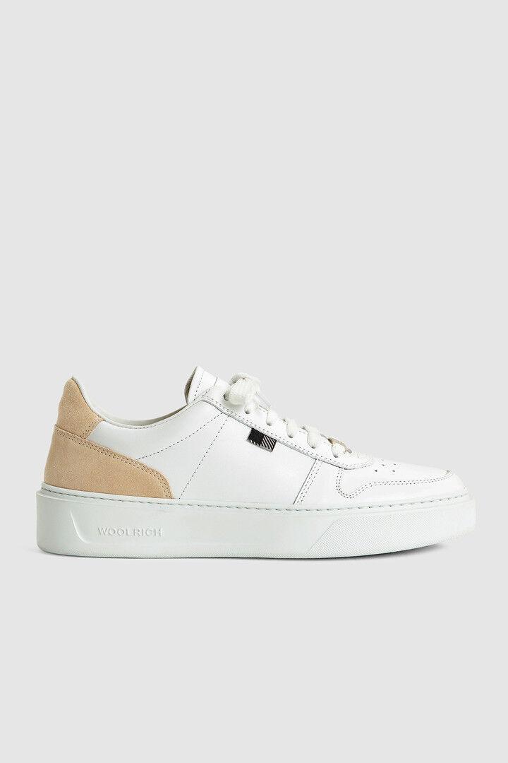 Sneaker Da Tennis Classic Con Dettagli In Camoscio - Woolrich