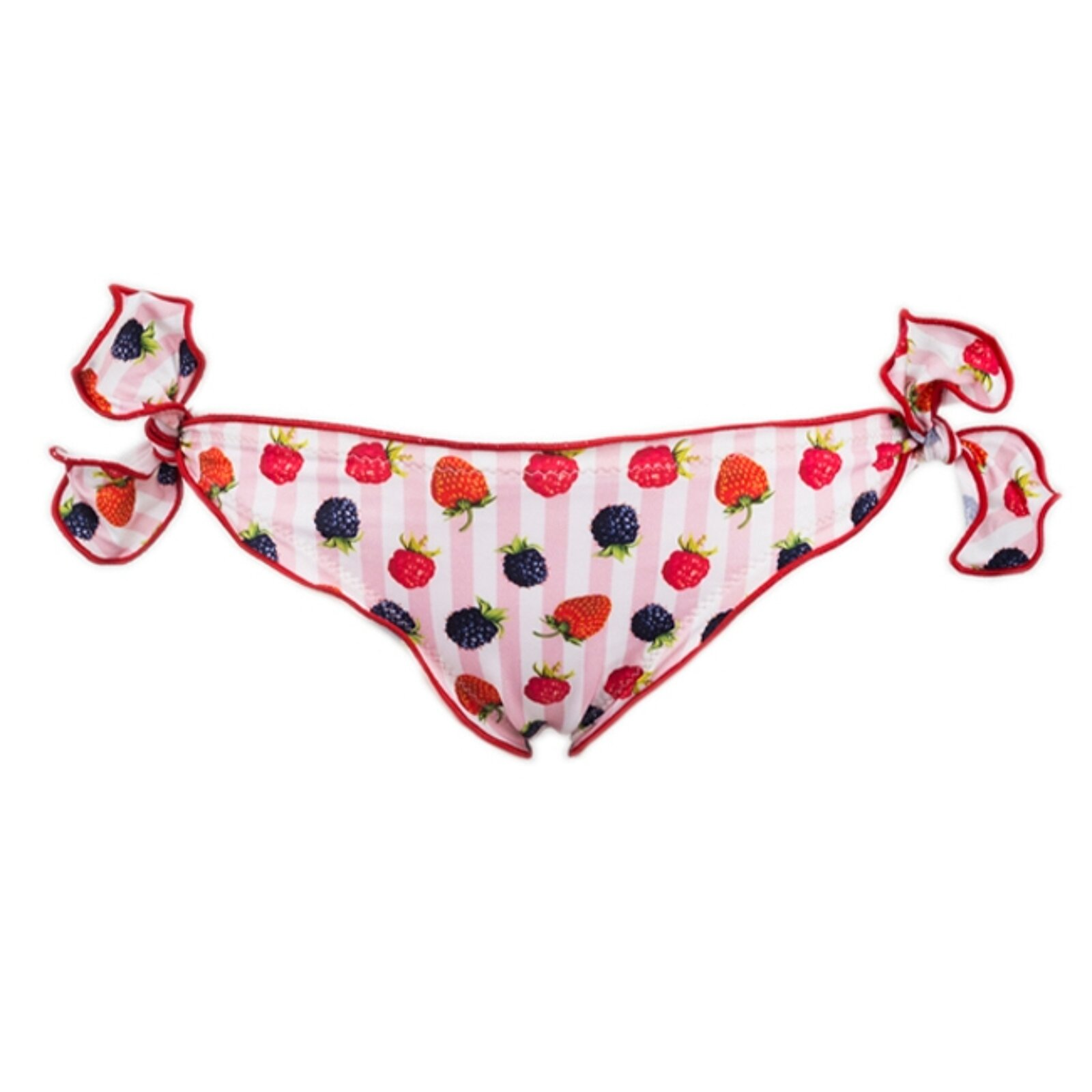 Slip Mare Bambina Con Fragole Arricciato - MC2 Saint Barth Junior