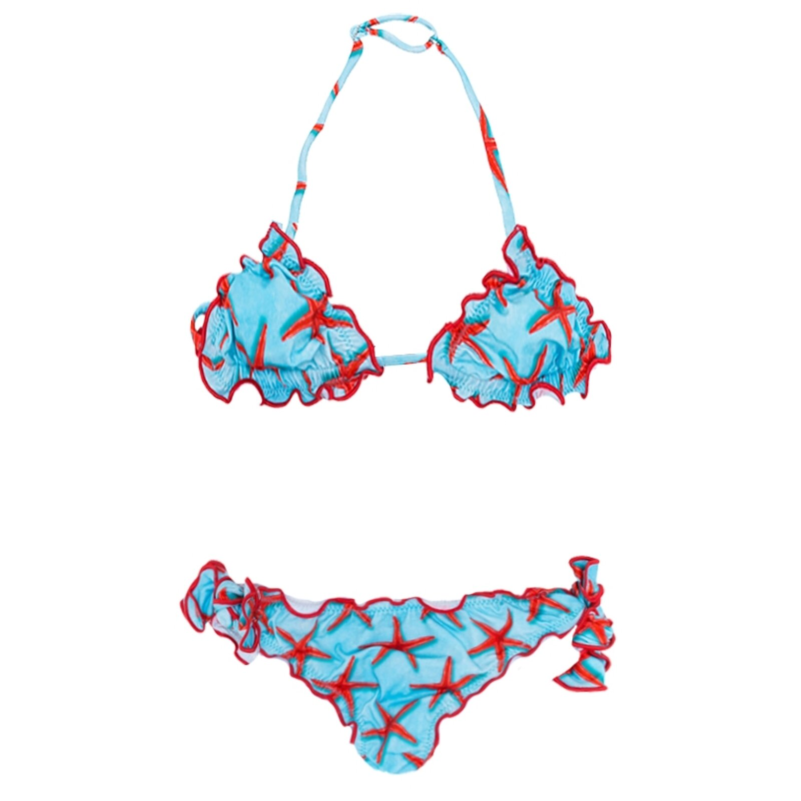 Bikini Bambina Bluette Con Stelle Marine - MC2 Saint Barth Junior