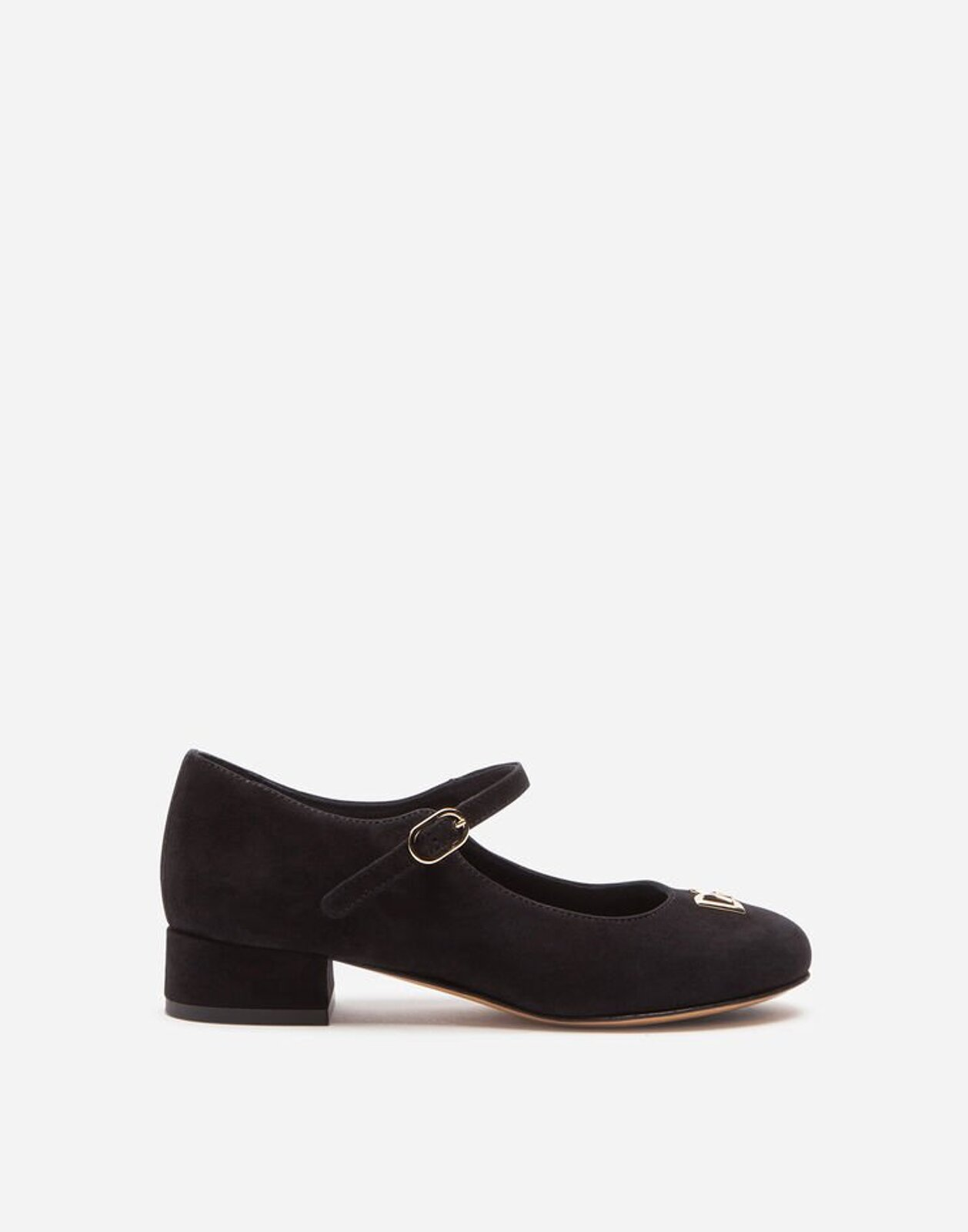 Ballerina Mary Jane Da Sera In Suede - Dolce & Gabbana Junior