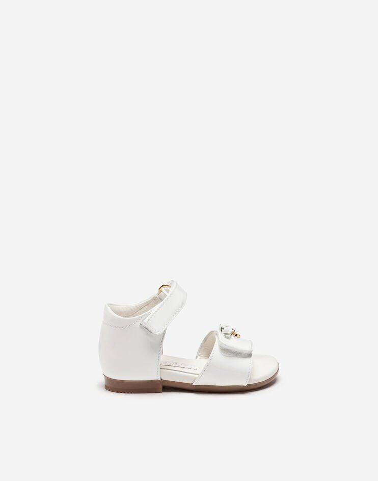Sandalo T-Strap In Vernice - Dolce & Gabbana Junior