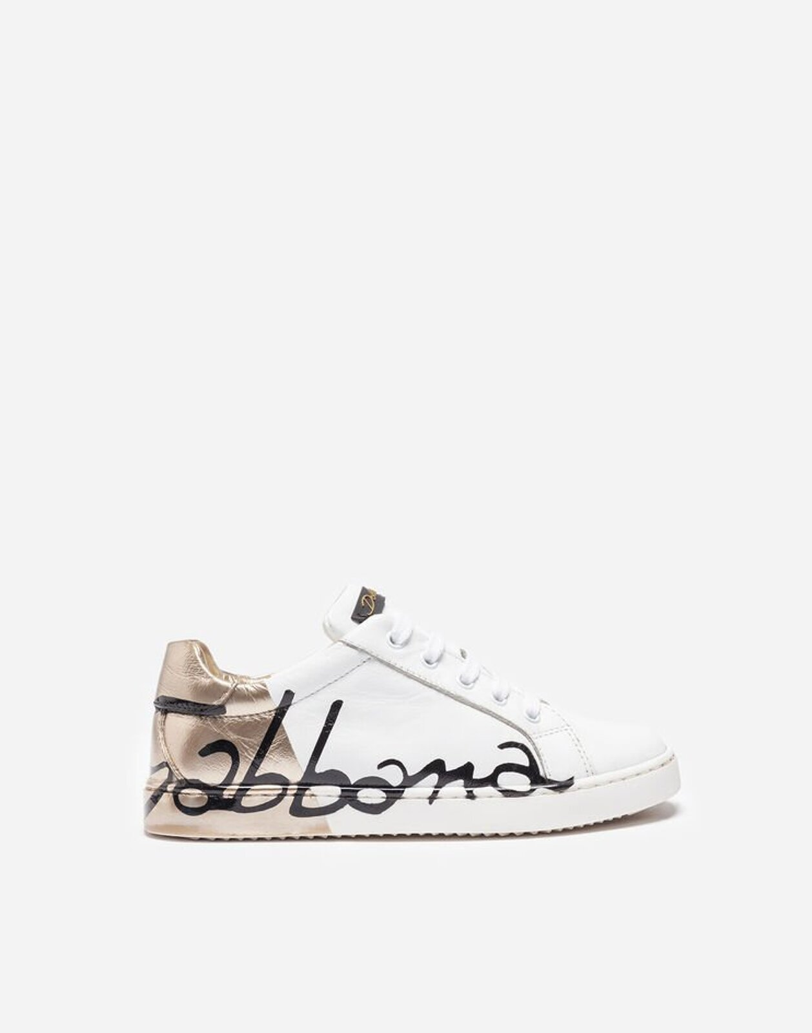 Sneakers In Pelle - Dolce & Gabbana Junior