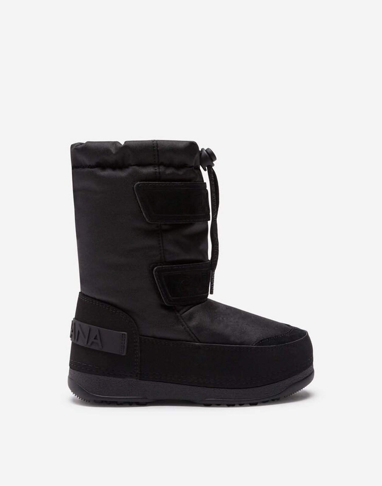 Snowboot In Nylon E Crosta Logati - Dolce & Gabbana Junior