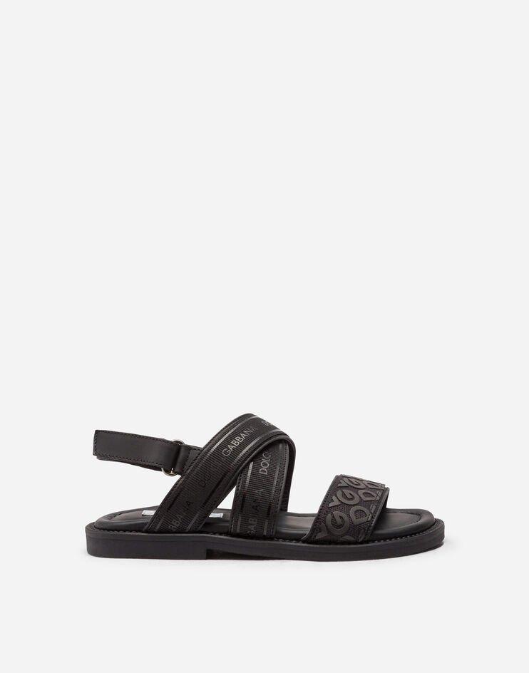 Sandalo In Vitello Con Nastro Logo - Dolce & Gabbana Junior