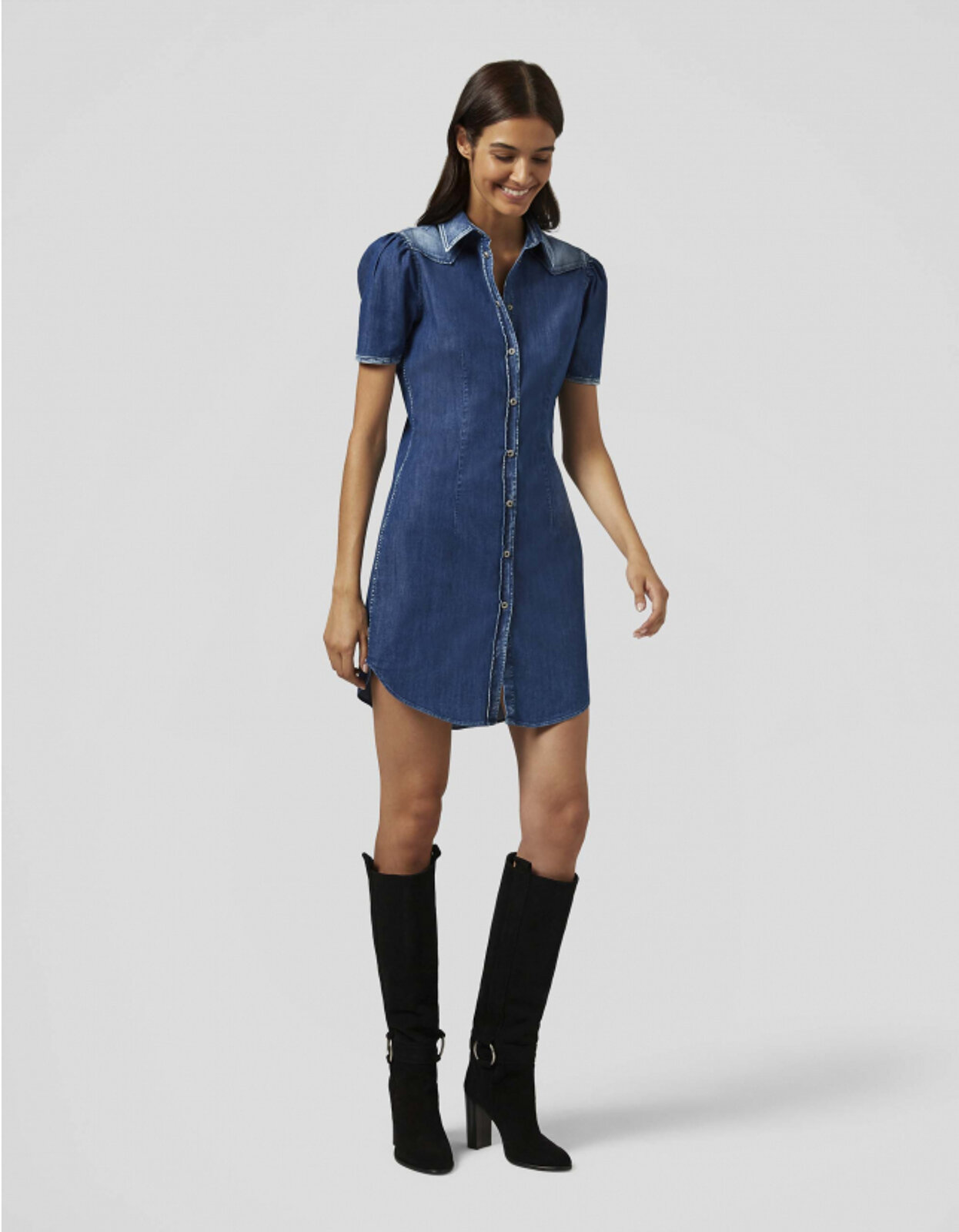 Denim Chemisier Dress - Dondup