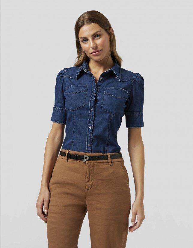 Slim Denim Shirt - Dondup