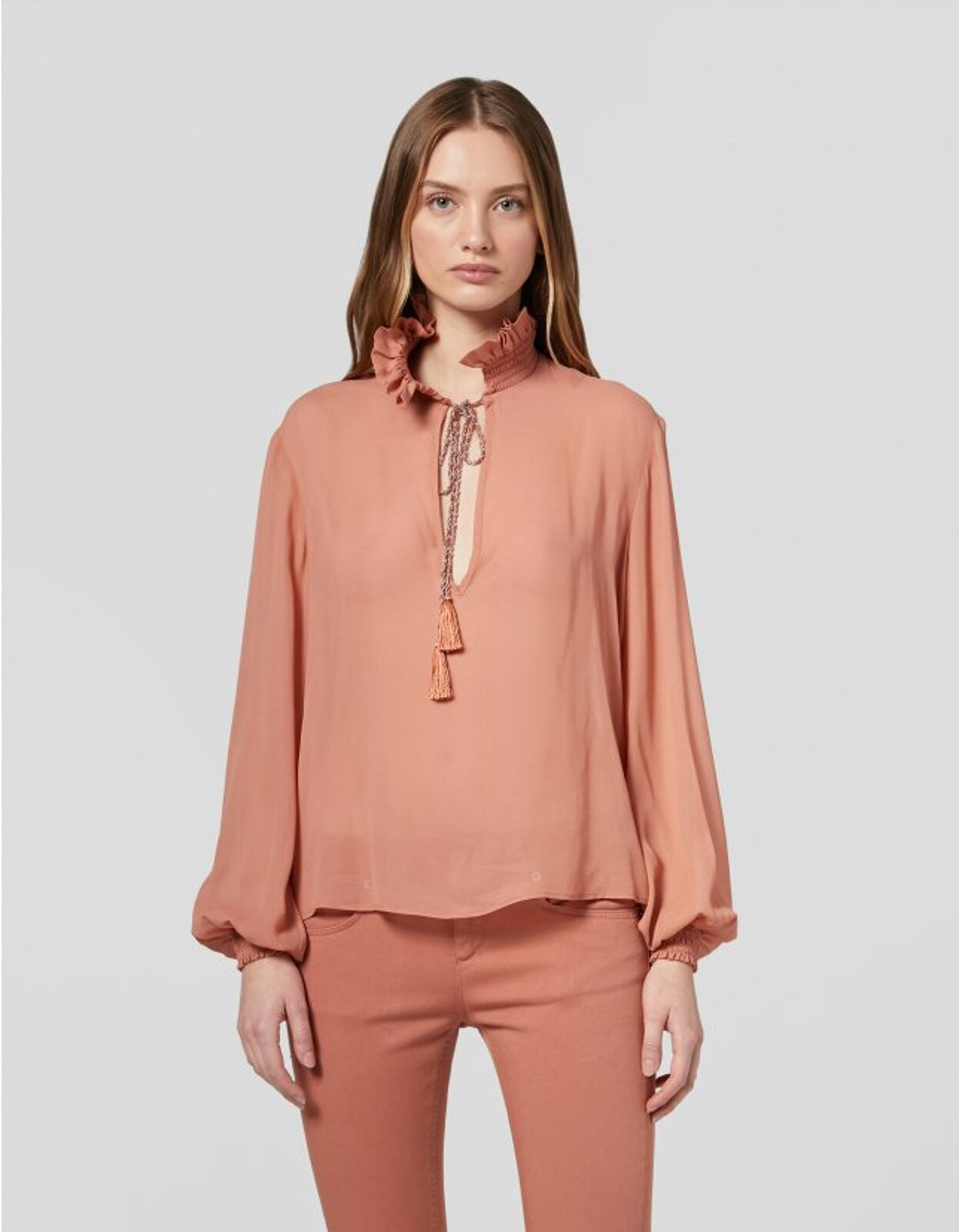 Camicia In Georgette - Dondup