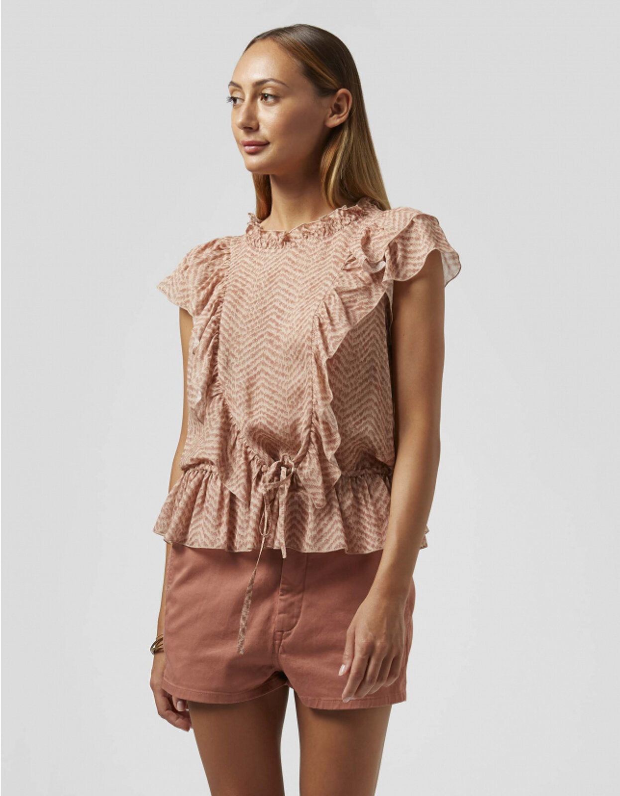 Top In Georgette Stampata - Dondup