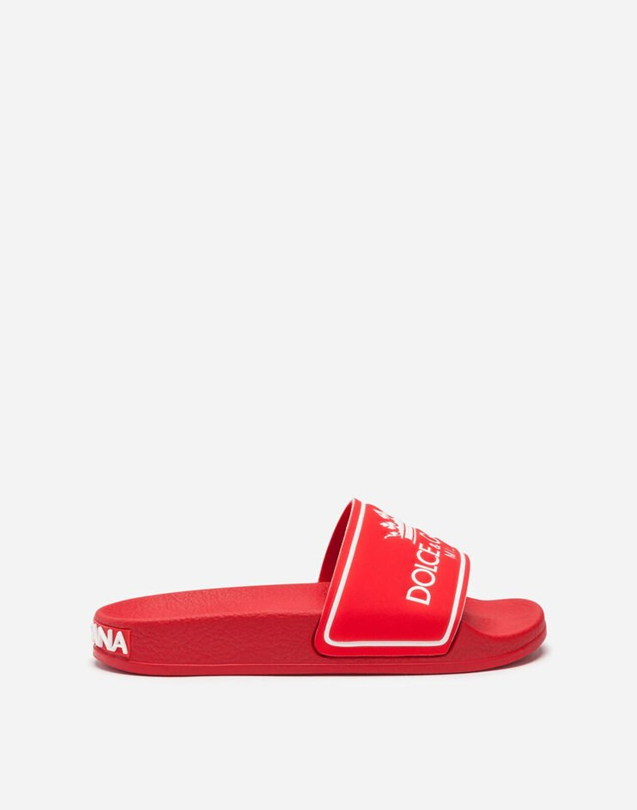Slides In Gomma Logata - Dolce & Gabbana Junior