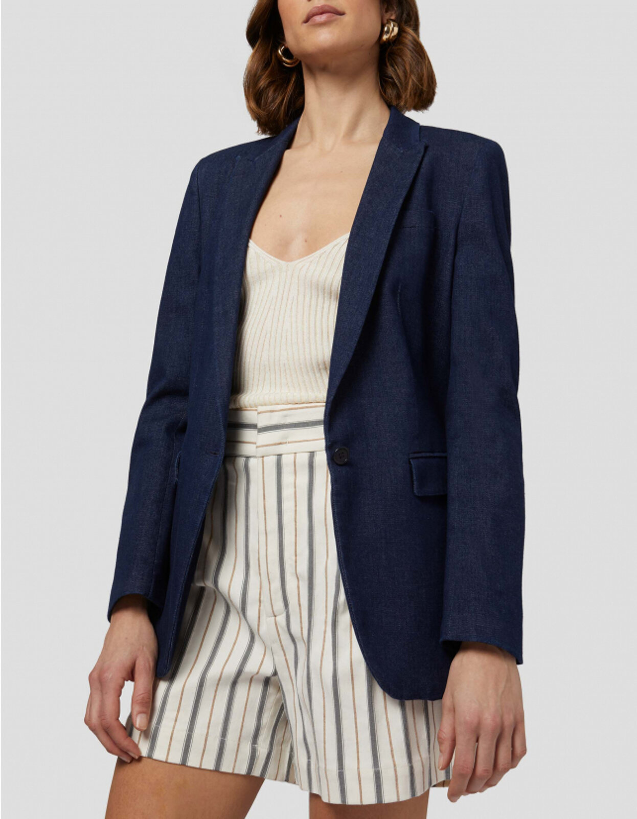 Blazer Monopetto In Denim - Dondup