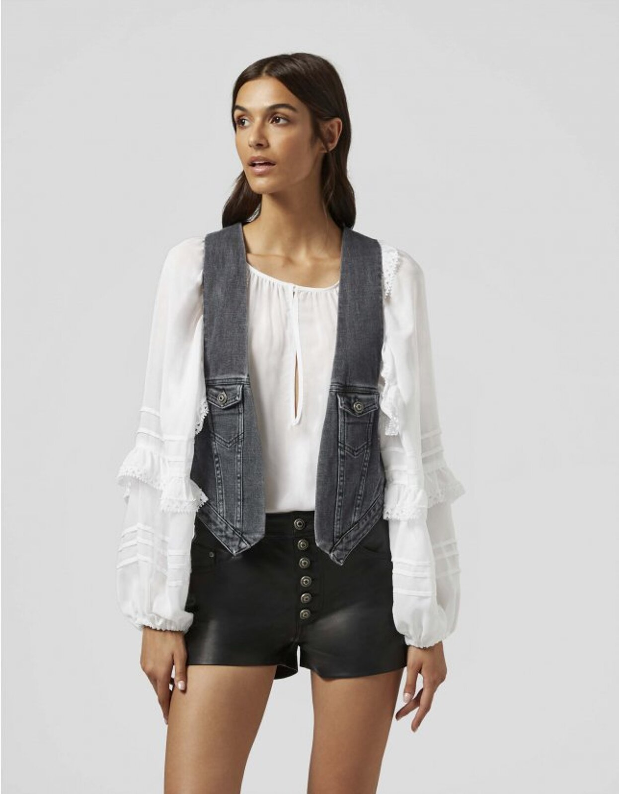 Denim Vest - Dondup