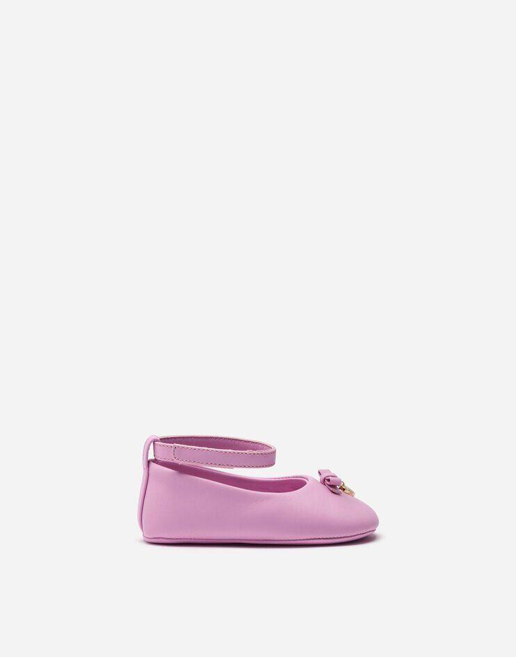 Ballerina Ankle Strap In Nappa Con Charm - Dolce & Gabbana Junior