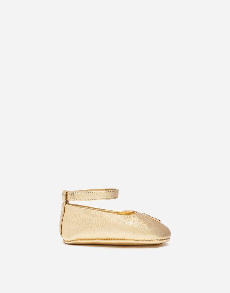 Ballerina Ankle Strap In Nappa Laminata - Dolce & Gabbana Junior