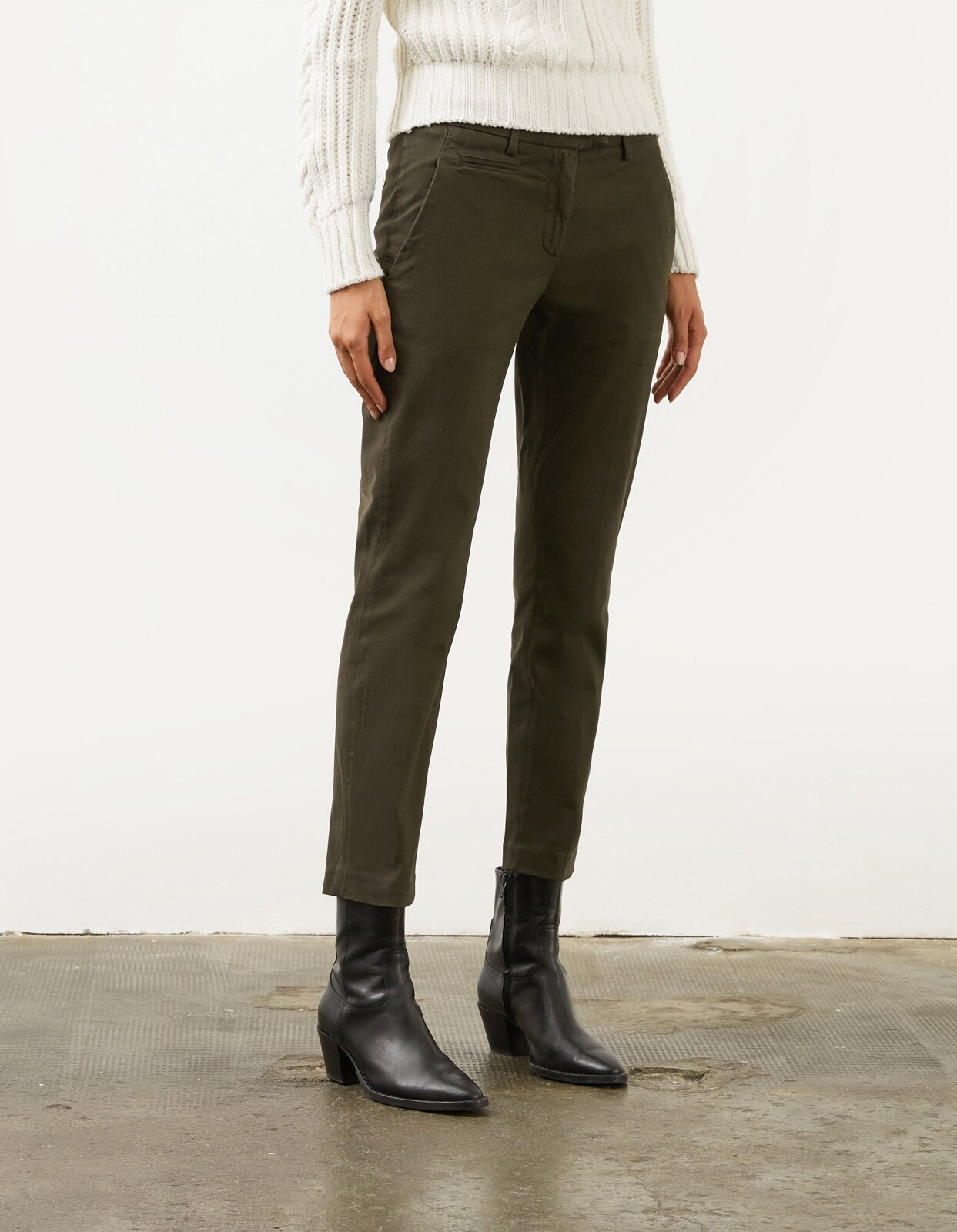 Pantalone slim Perfect in gabardina - Dondup