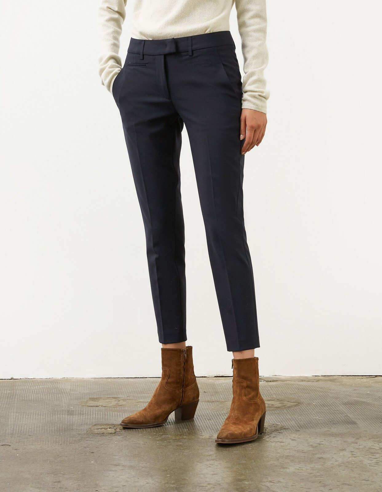 Pantalone slim Perfect in tela di lana - Dondup