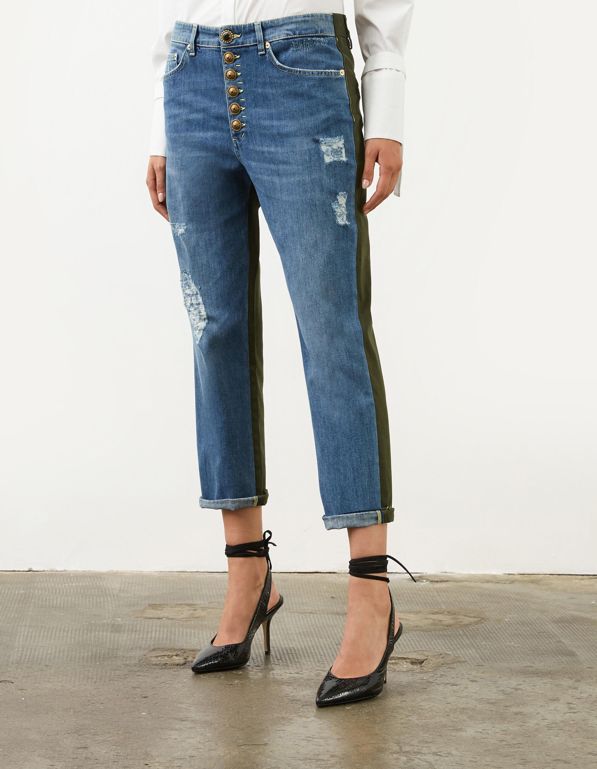Loose Koons jeans in denim and gabardine - Dondup