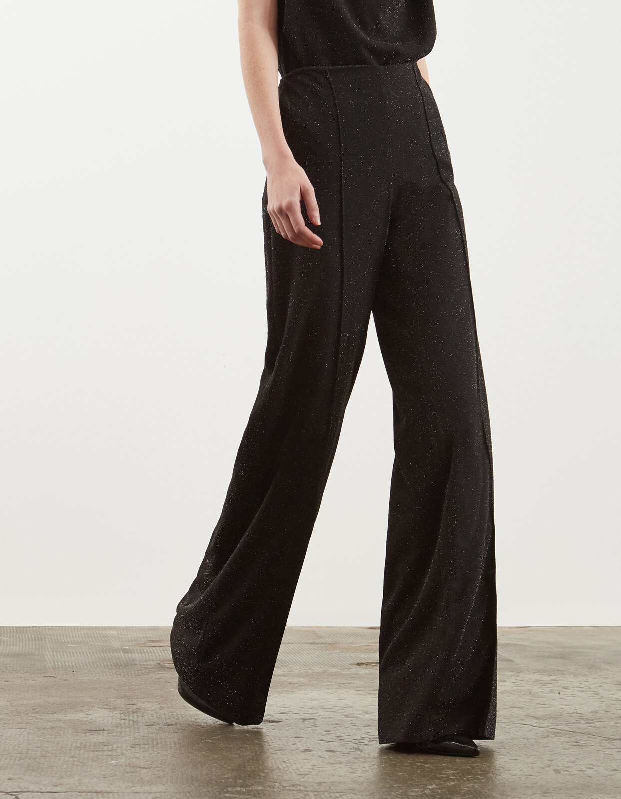 Palazzo trousers in lurex jersey - Dondup