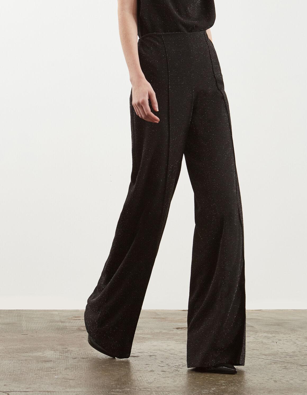 Pantalone palazzo in jersey lurex - Dondup