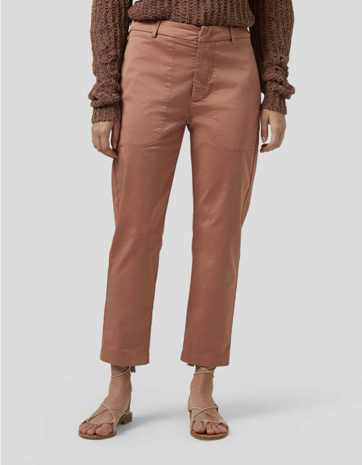 Carrot Ela Trousers In Satin - Dondup