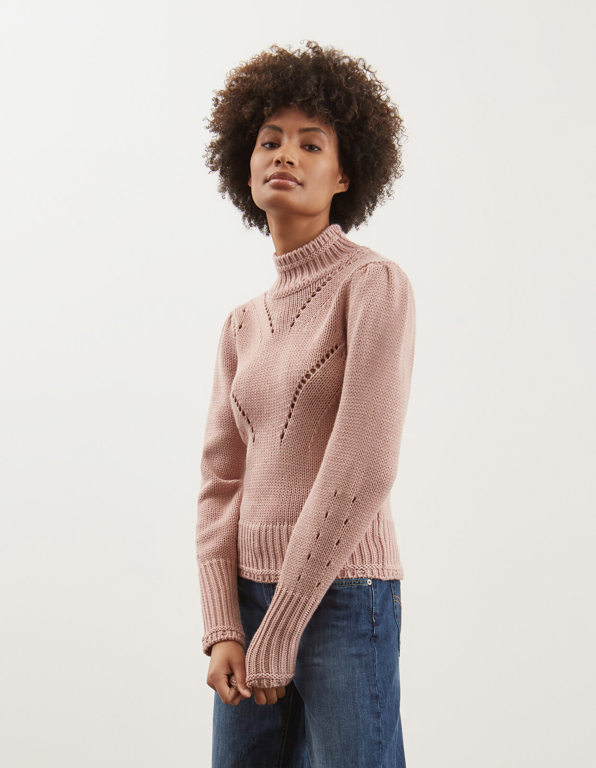 Maglia con collo a lupetto in lana - Dondup