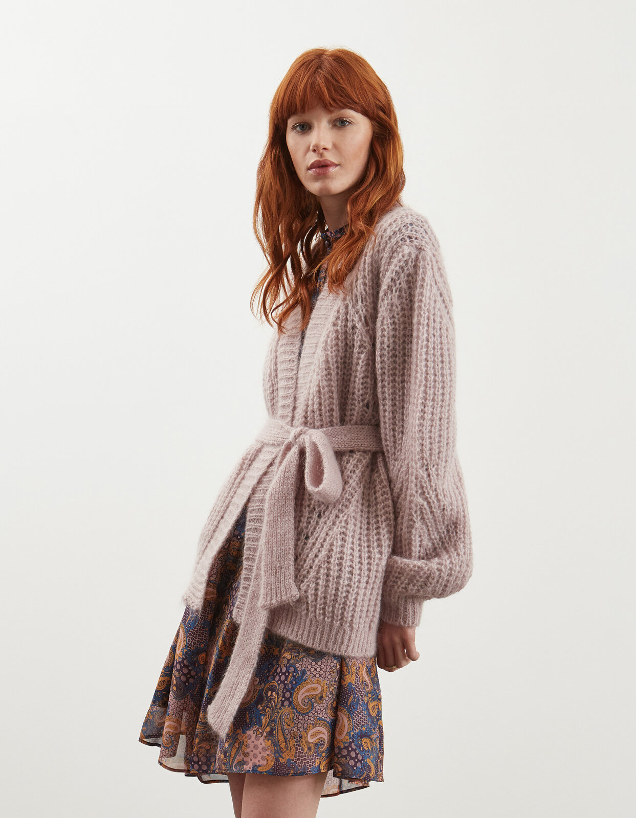 Cardigan over in mohair - Dondup