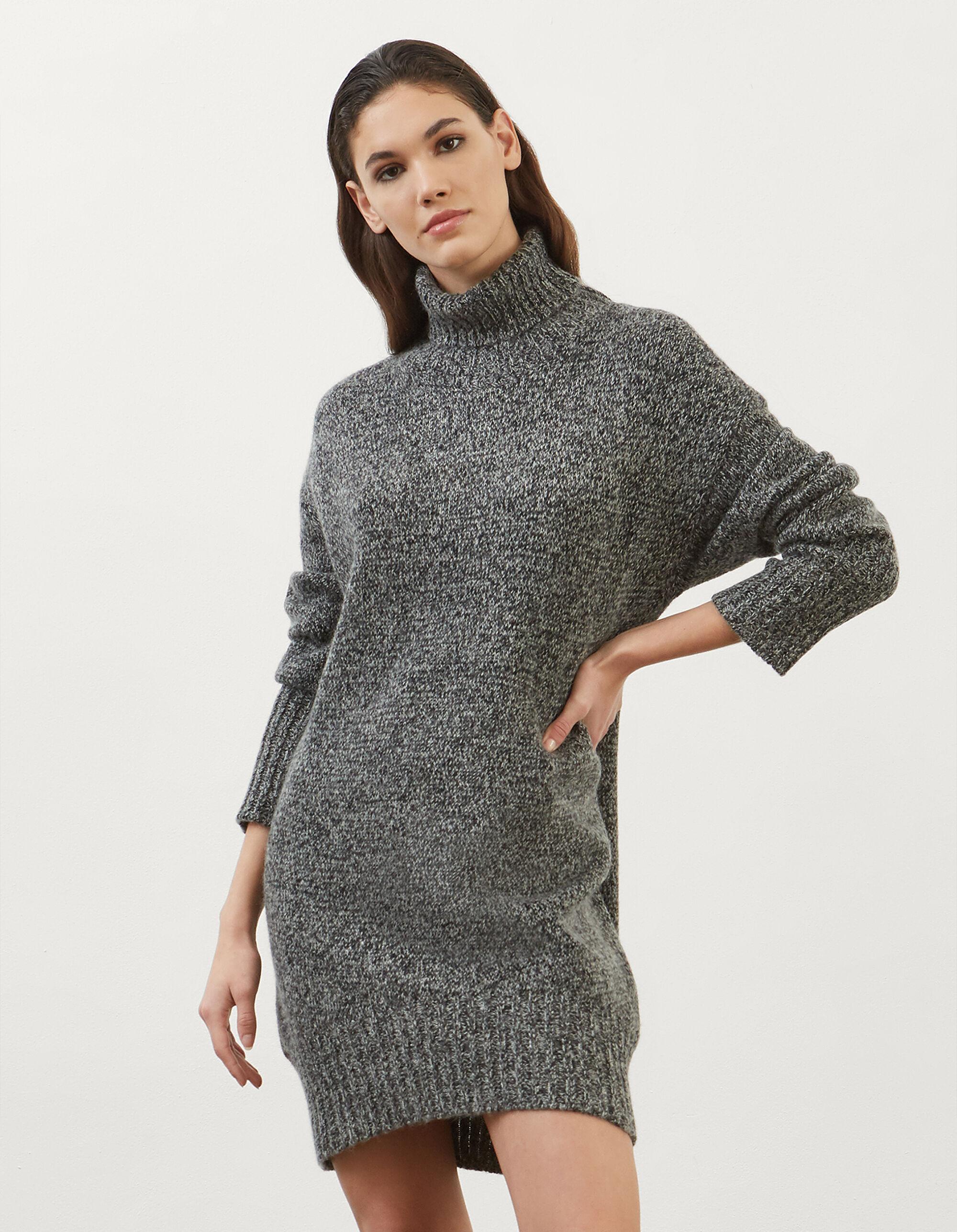 Abito dolcevita in lana moulinè - Dondup