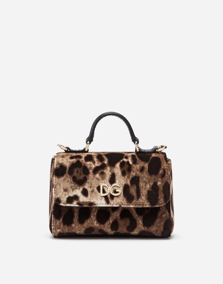 Borsa A Mano In Velluto Stampa Leopardo - Dolce & Gabbana Junior