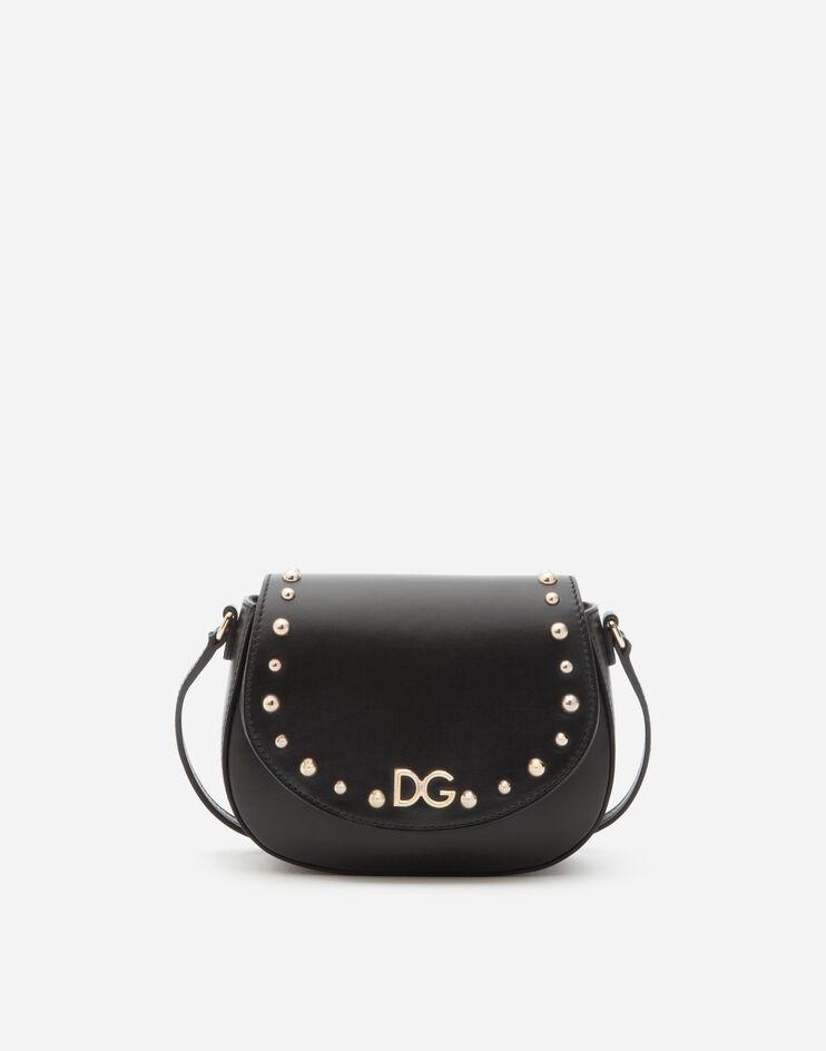 Borsa Tracolla In Pelle Di Vitello Logo Dg - Dolce & Gabbana Junior