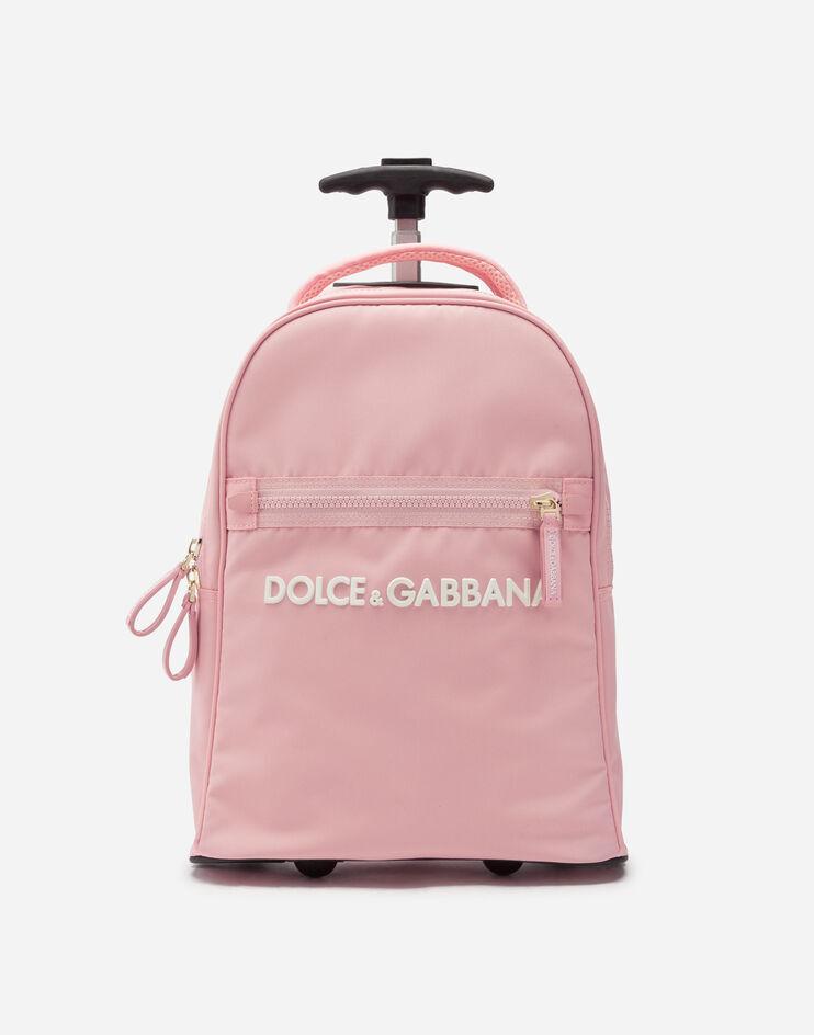 Trolley In Nylon Cordura Con Logo Gommato - Dolce & Gabbana Junior