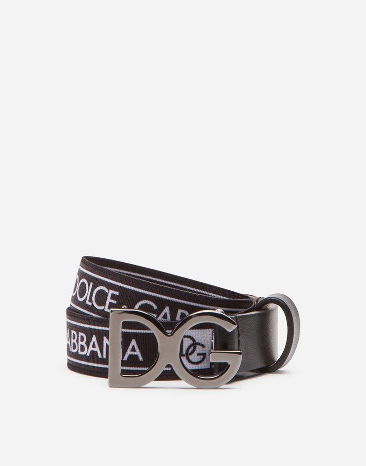 Cintura In Nastro Elastico Con Logo - Dolce & Gabbana Junior