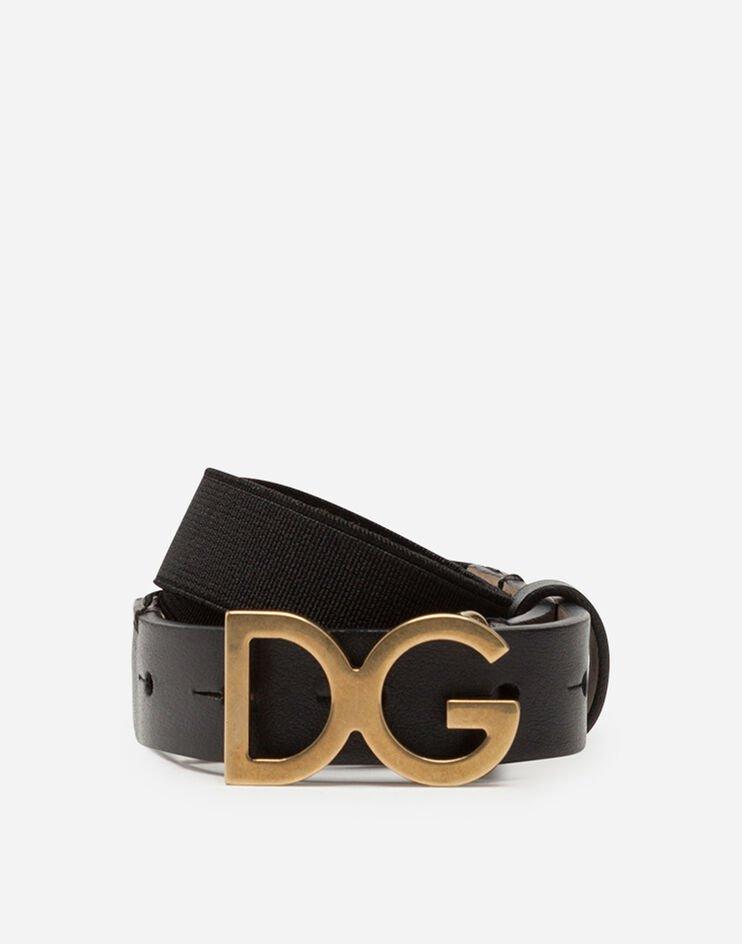 Cintura In Nastro Elastico Fibbia Dg - Dolce & Gabbana Junior