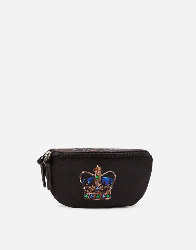 Marsupio In Nylon Stampa Corona - Dolce & Gabbana Junior