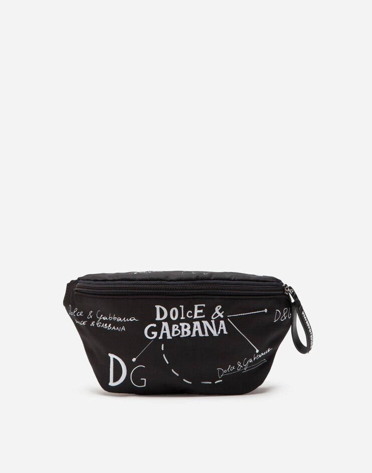 Marsupio In Nylon Con Ricamo - Dolce & Gabbana Junior