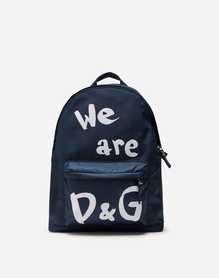Zaino In Nylon Stampa We Are D&G - Dolce & Gabbana Junior