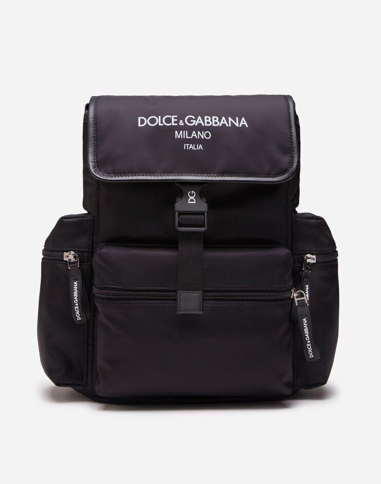 Zaino In Nylon Logo Dolce&Gabbana Milano - Dolce & Gabbana Junior