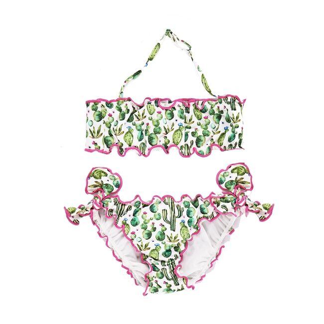 Bikini A Fascia Frou Frou Da Bimba Cactus - MC2 Saint Barth Junior