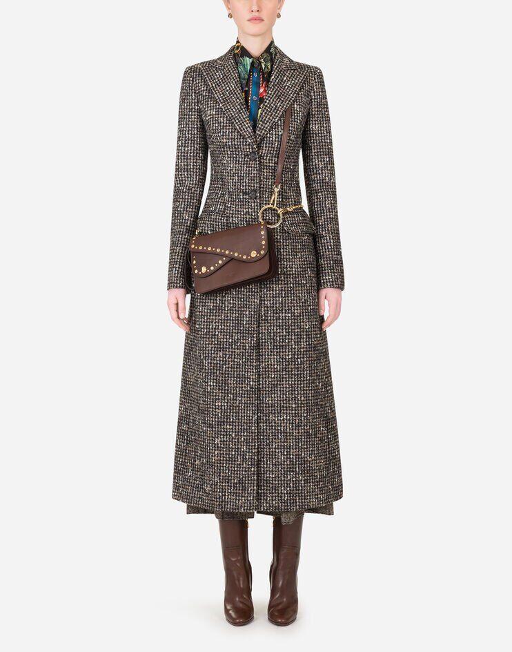Cappotto Monopetto In Pied De Poule - Dolce & Gabbana