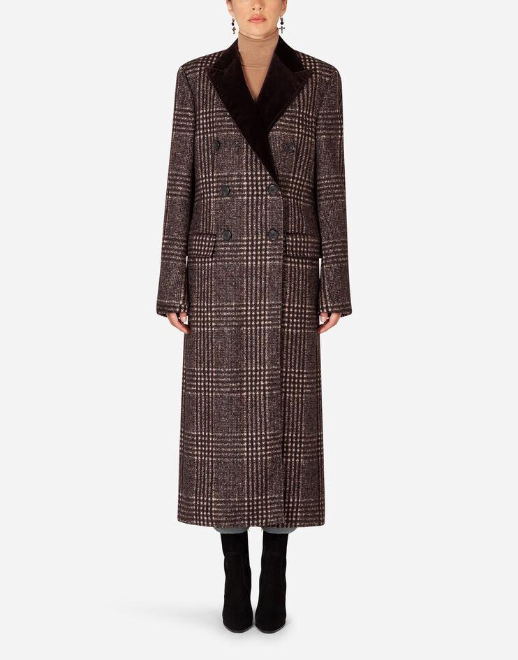 Cappotto Doppiopetto In Tartan - Dolce & Gabbana