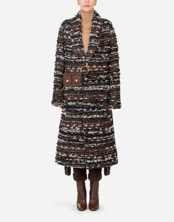 Cappotto Vestaglia In Tweed Con Cintura - Dolce & Gabbana