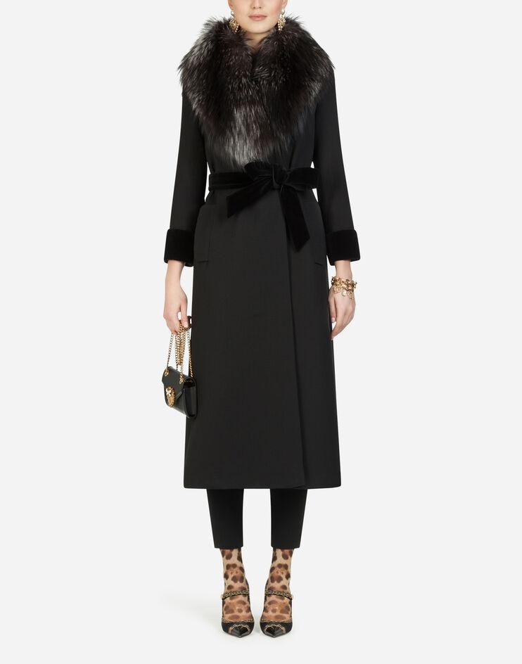 Cappotto Lungo In Lana Con Collo In Pelliccia - Dolce & Gabbana