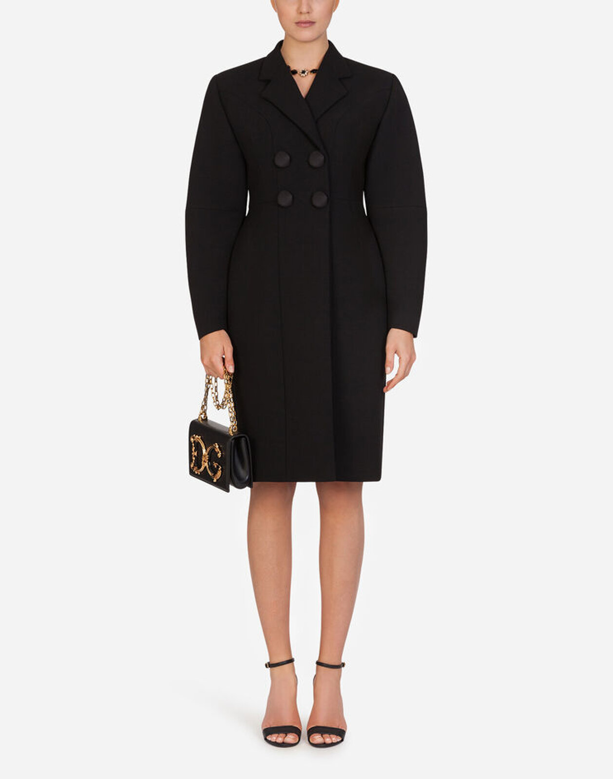 Double Breasted Wool Coat - Dolce & Gabbana