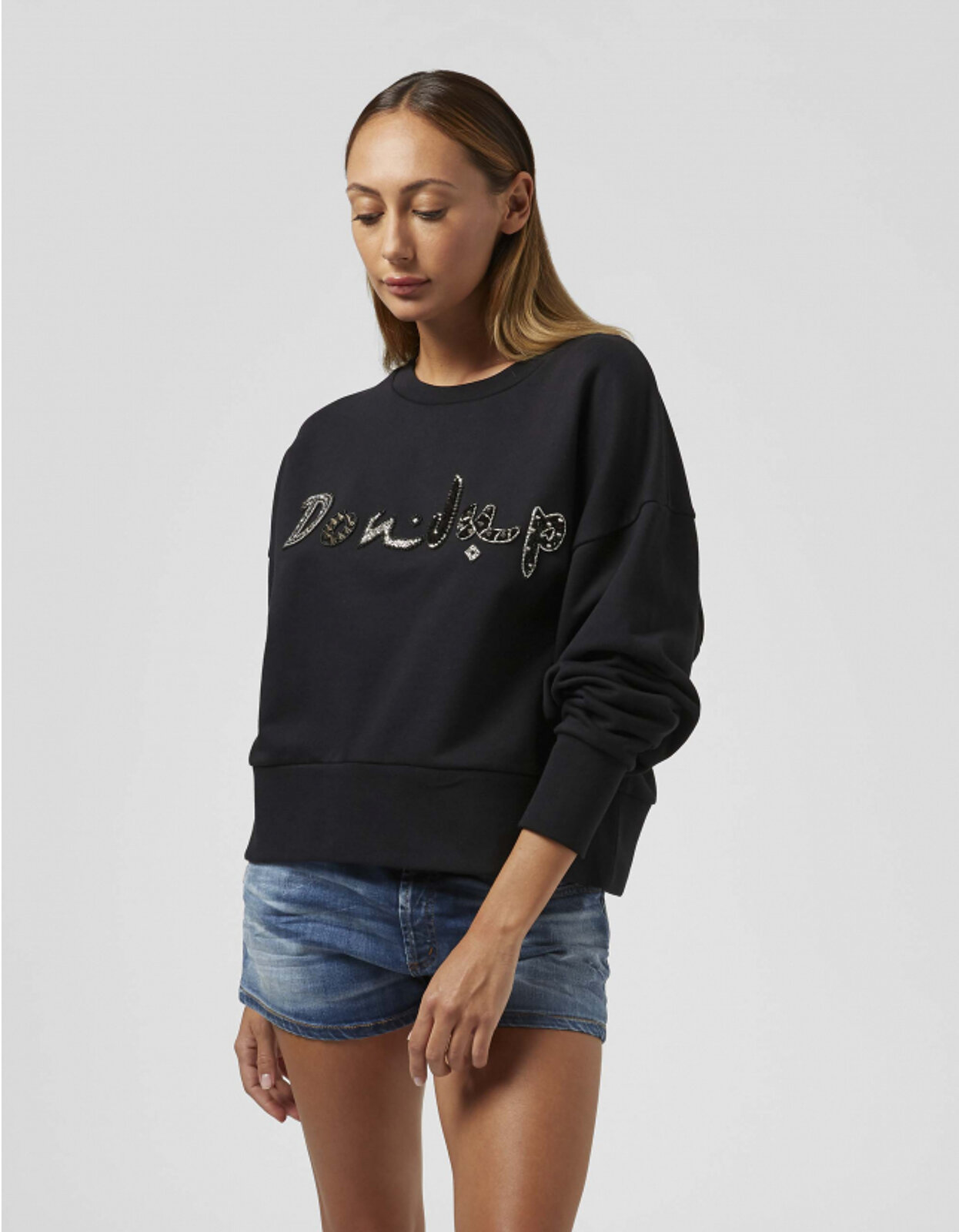 Cotton Crewneck Sweatshirt - Dondup