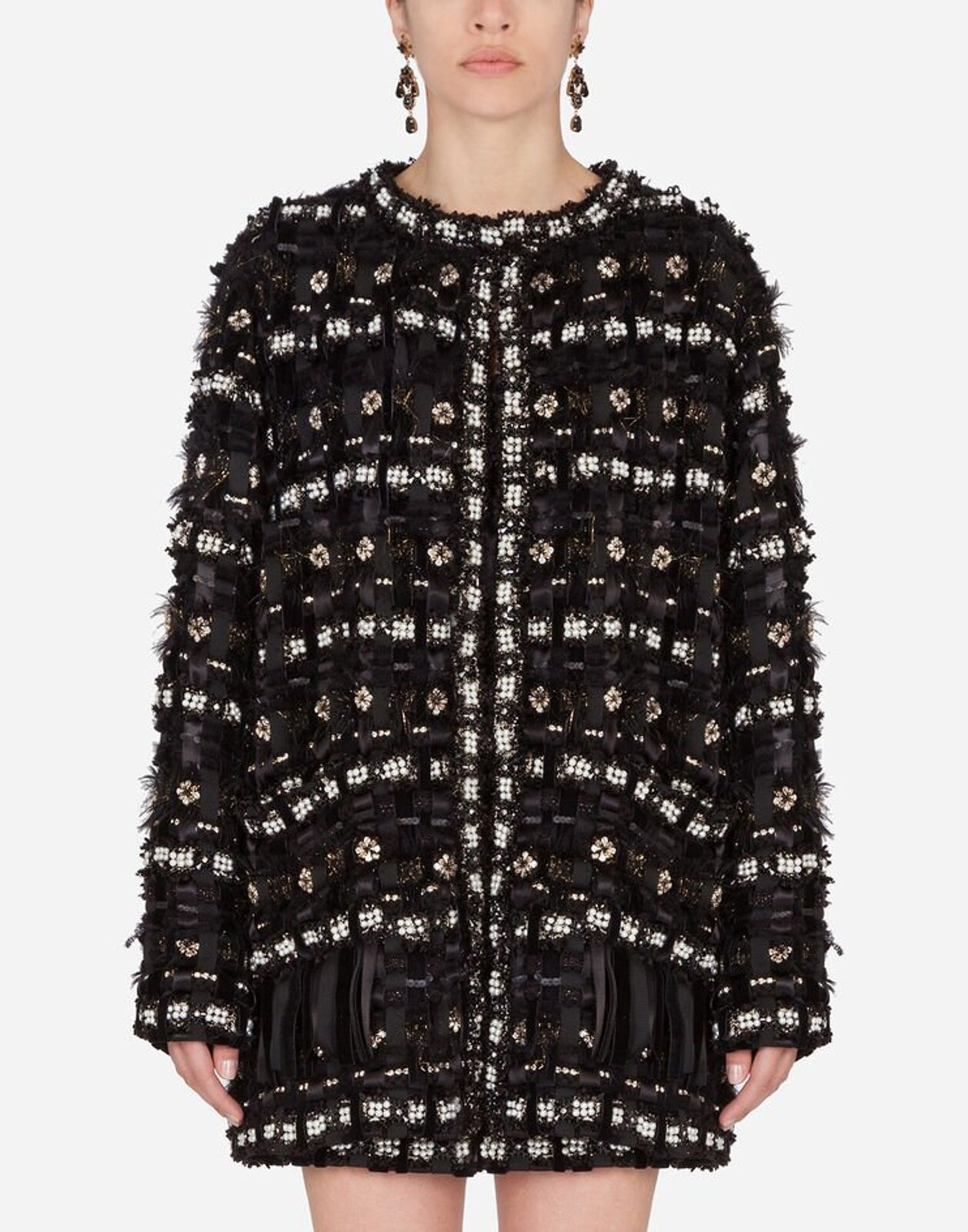 Single-Breasted Embroidered Jacket - Dolce & Gabbana