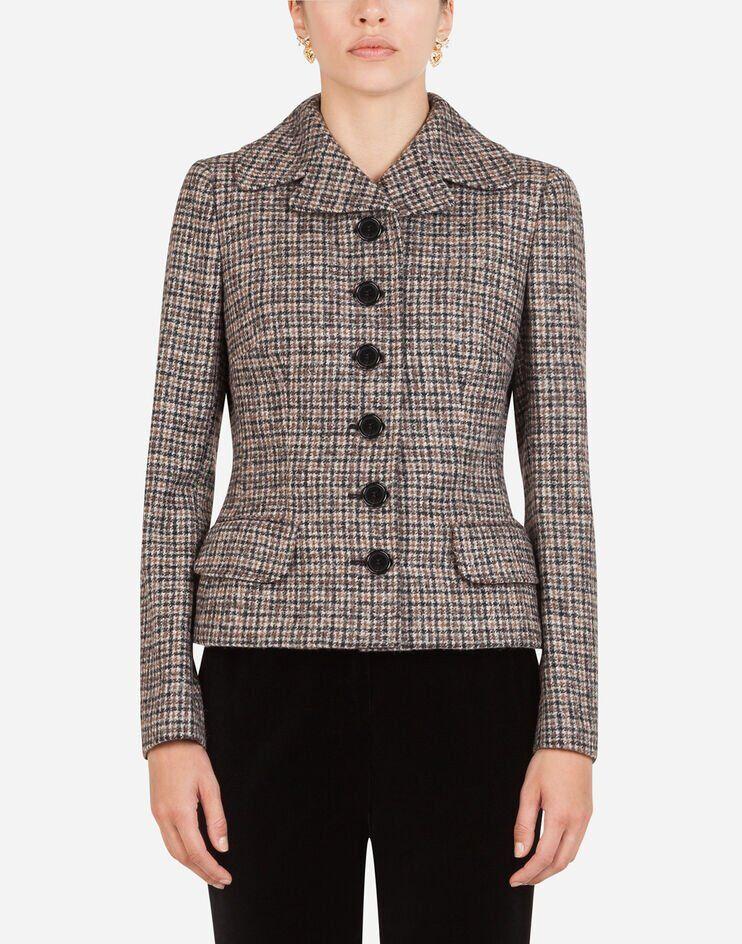 Giacca Corta Monopetto In Tweed - Dolce & Gabbana