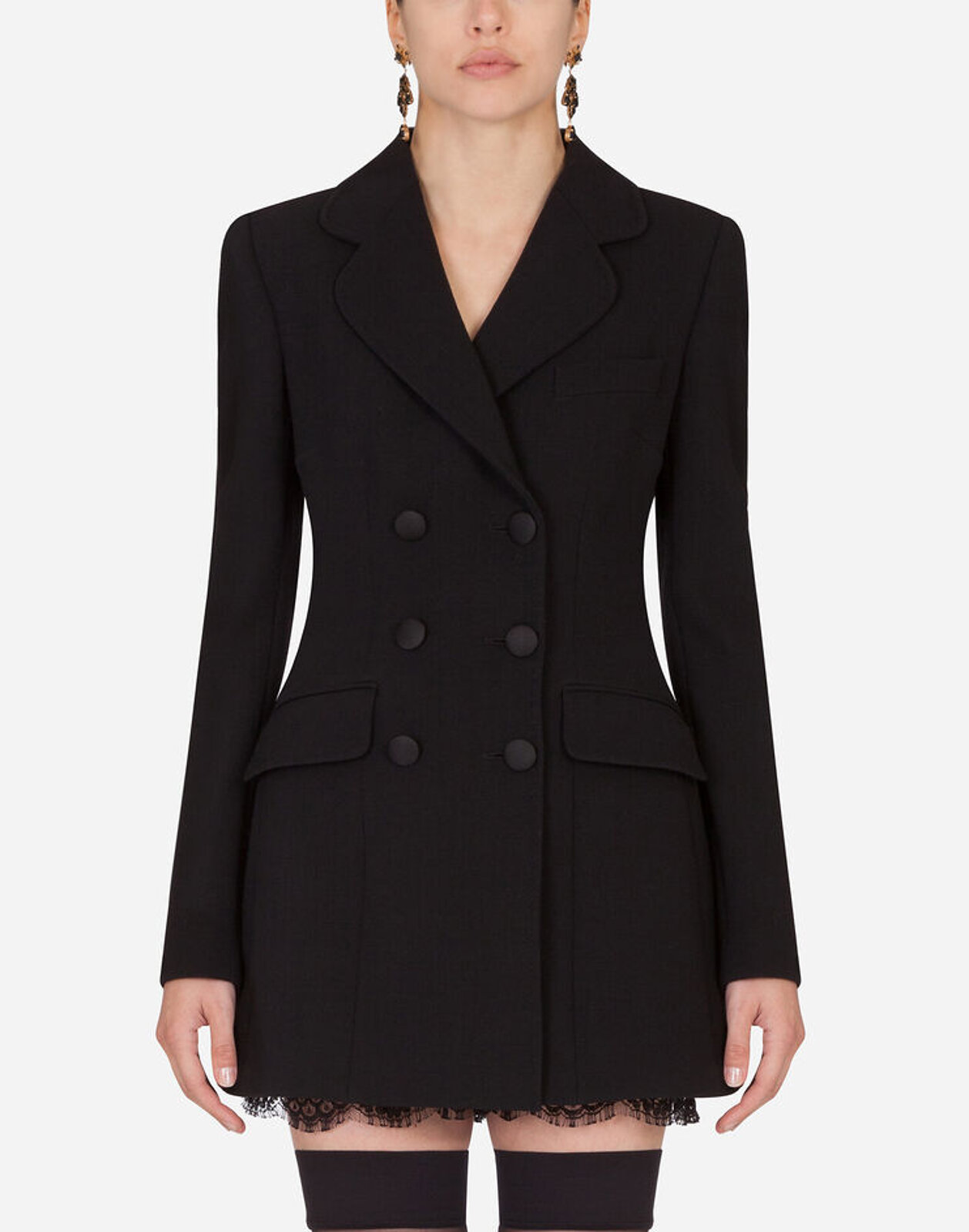 Long Double-Breasted Jacket - Dolce & Gabbana