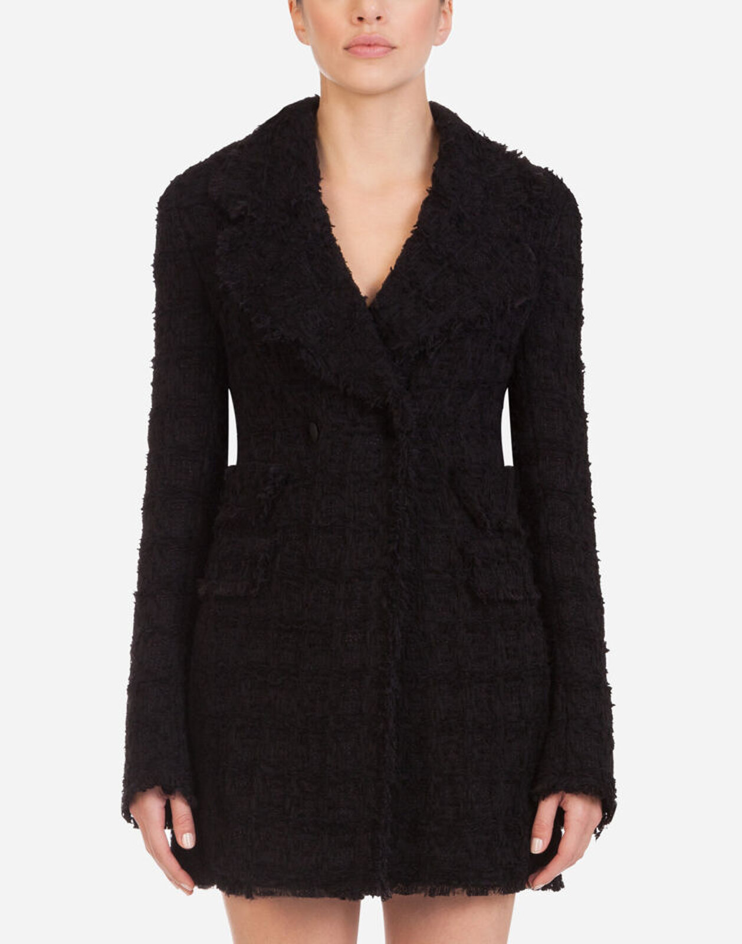 Giacca Doppiopetto In Tweed - Dolce & Gabbana